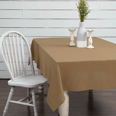 Burlap Natural Tablecloth