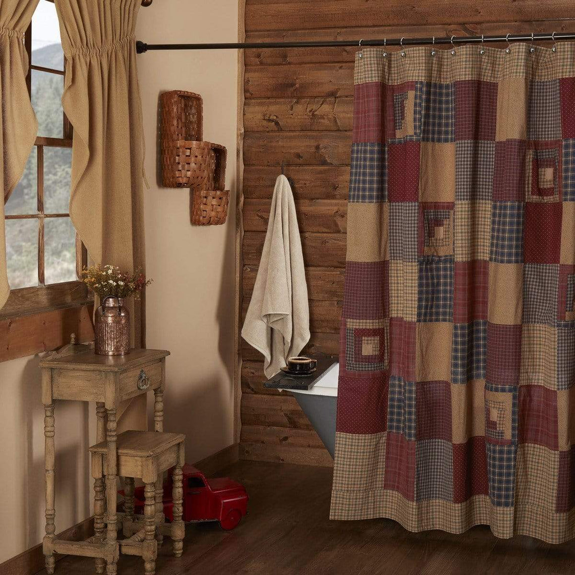 Millsboro Patchwork Shower Curtain