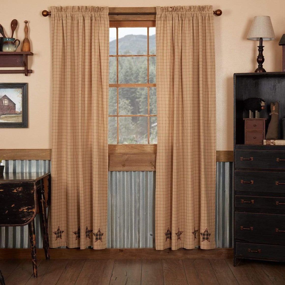 "Bingham Star 84"" Applique Panel Set"