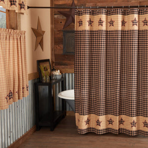 Bingham Star Patchwork Shower Curtain