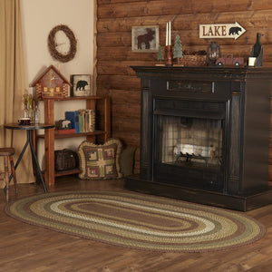 Tea Cabin Braided Oval Rug