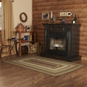 Tea Cabin Braided Rectangle Rug