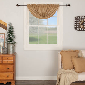 Burlap Natural Balloon Valance