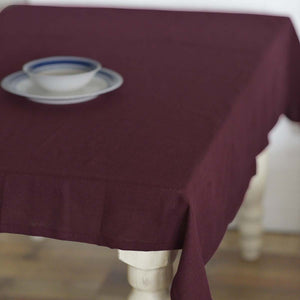 Burlap Merlot Rectangle Tablecloth