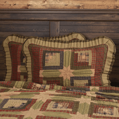 Tea Cabin Standard Sham - Retro Barn Country Linens