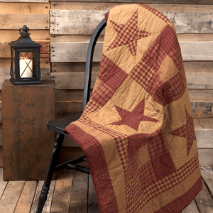 Ninepatch Star Quilted Throw / Wallhanging