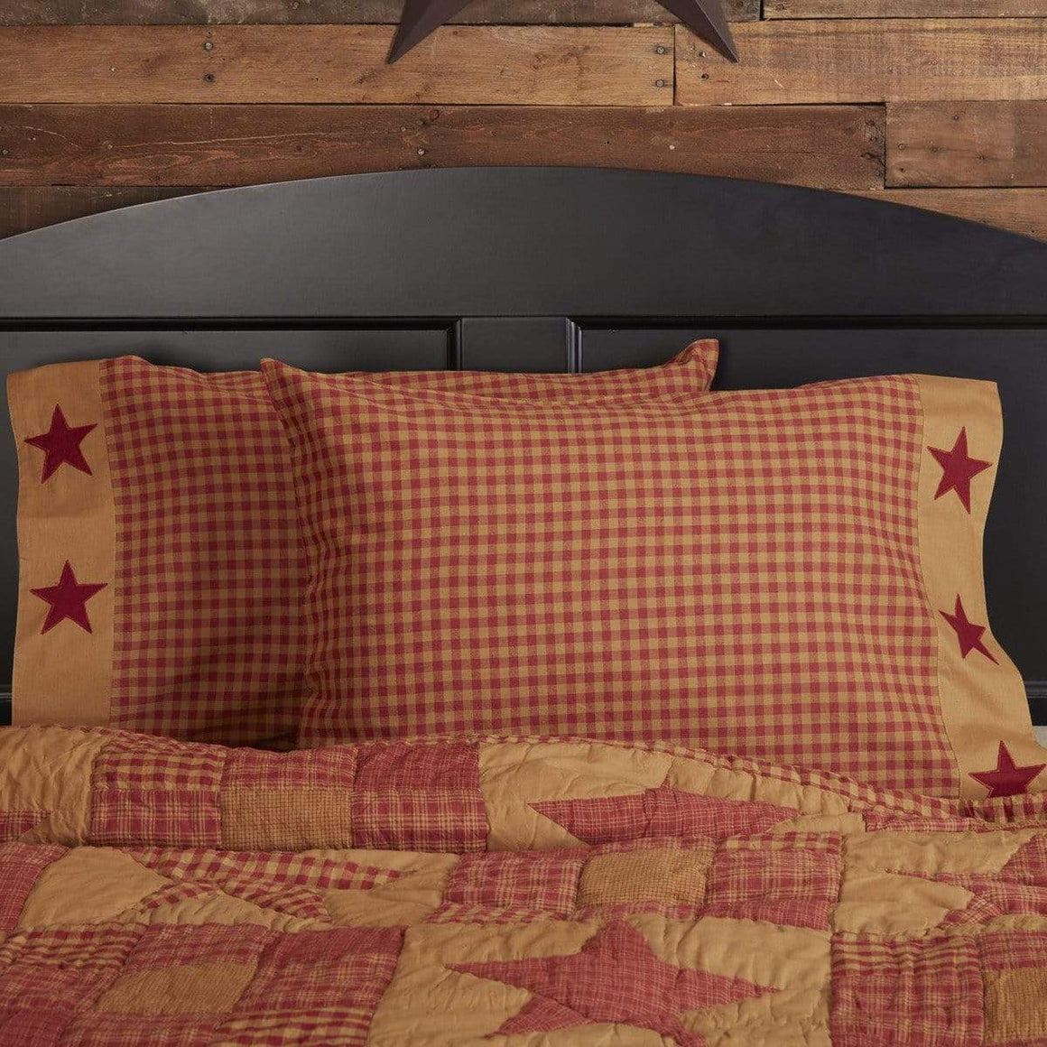 Ninepatch Star Pillow Case Set
