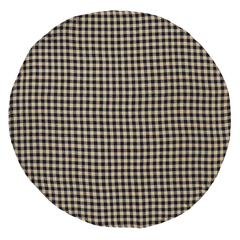 Burlap Black Check Round Tablecloth - Retro Barn Country Linens