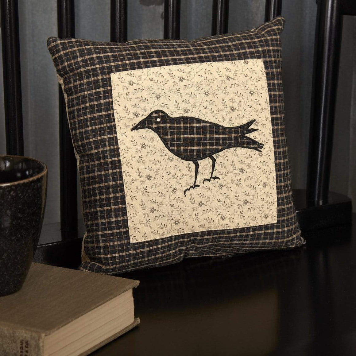 Kettle Grove Black Crow Mini Pillow
