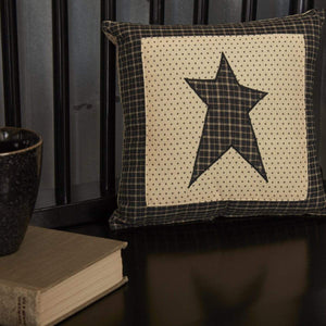 Kettle Grove Black Star Mini Pillow