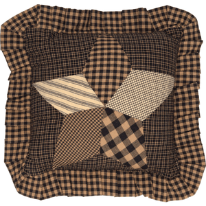 Farmhouse Star Quilted Pillow 10""