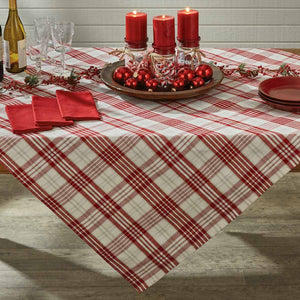 Peppermint Plaid Tablecloth
