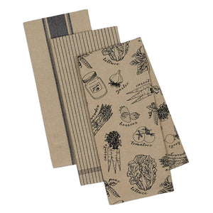 French Market Black Kitchen Towel Set