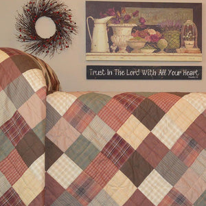 Autumn Plaid Hand Quilted Bedspread Quilt
