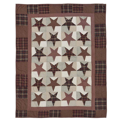 Abilene Star Quilted Throw / Wallhanging - Retro Barn Country Linens - 3