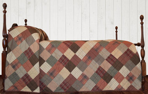 Autumn Plaid Bedspread Quilt