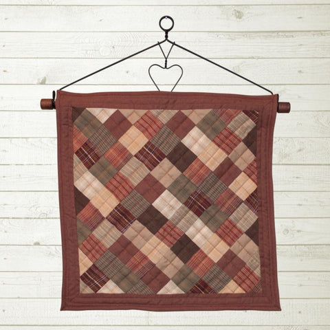 Autumn Plaid Quilt Block by Retro Barn