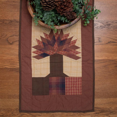 Autumn Tree Table Runner Plain