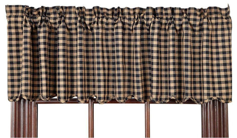 Black Check Valance - Retro Barn Country Linens