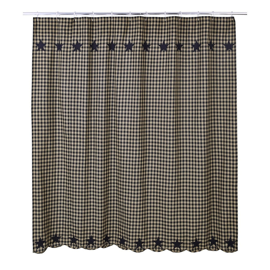 Black Star Shower Curtain