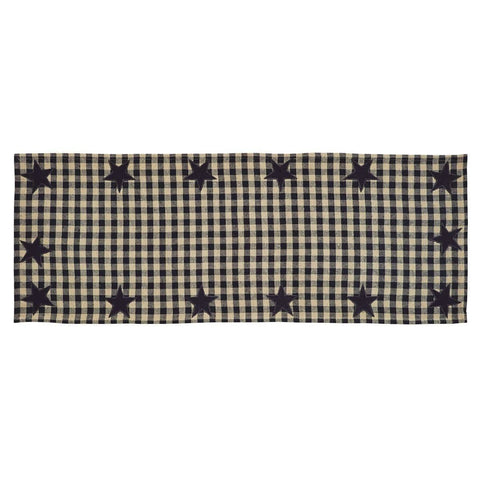 Black Star Runner - Retro Barn Country Linens