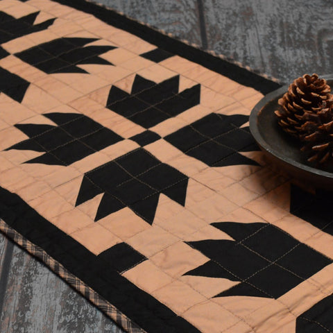 Burgundy Bear's Paw Table Runner
