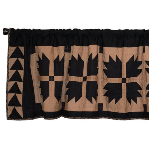 Black Bear's Paw Patchwork Valance