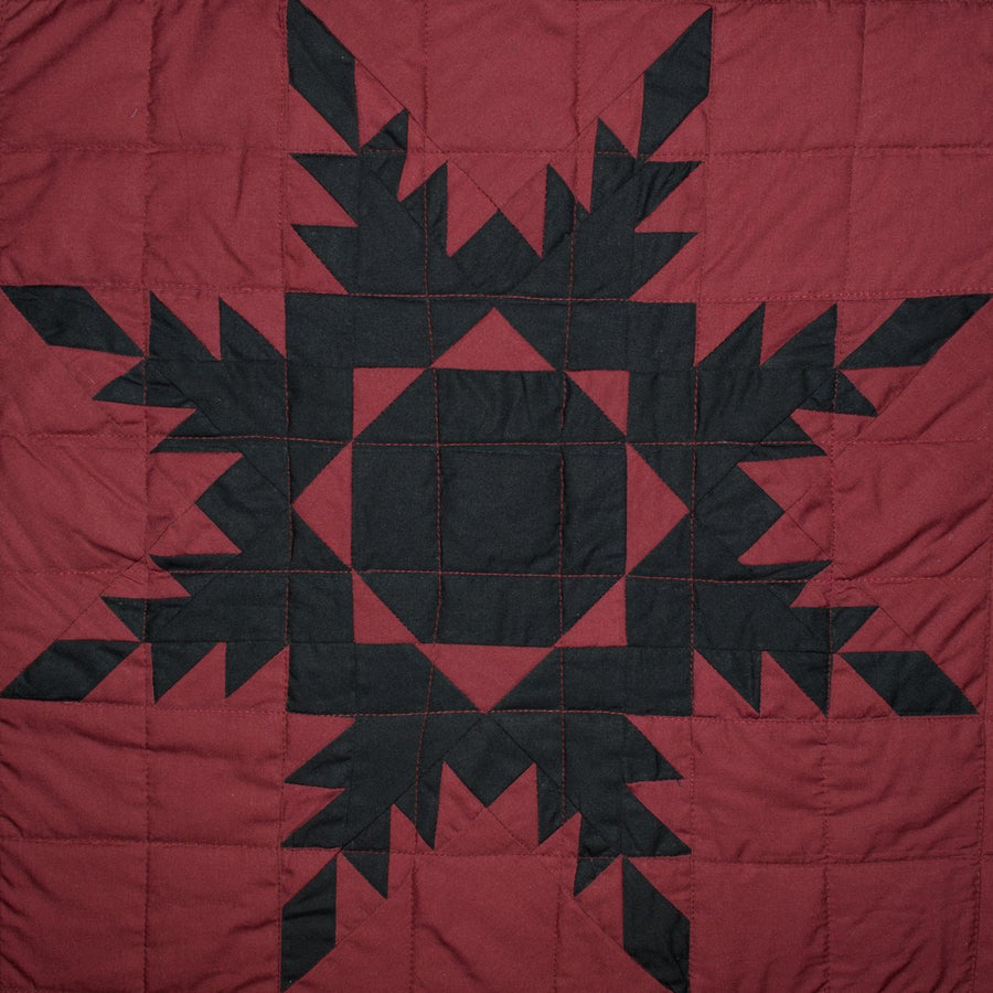 Black Feathered Star Quilt