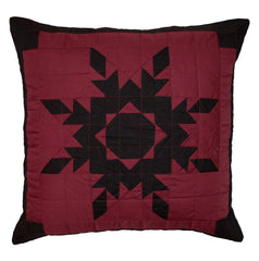 Black Feathered Star Toss Pillow