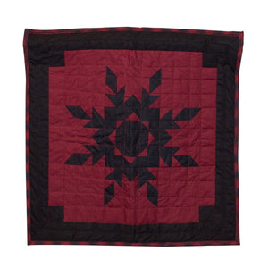 Black Feathered Star Quilt Block