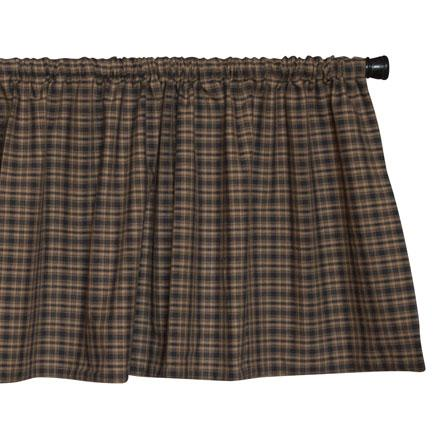 Black and Tan Plaid Valance