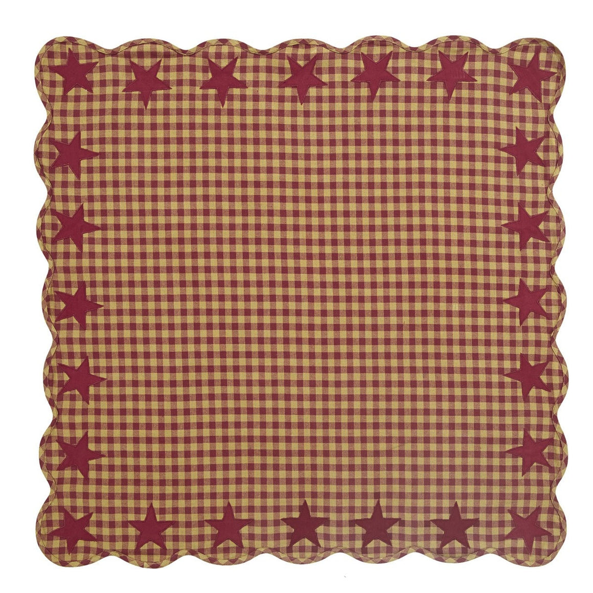 Burgundy Star Square Tablecloth