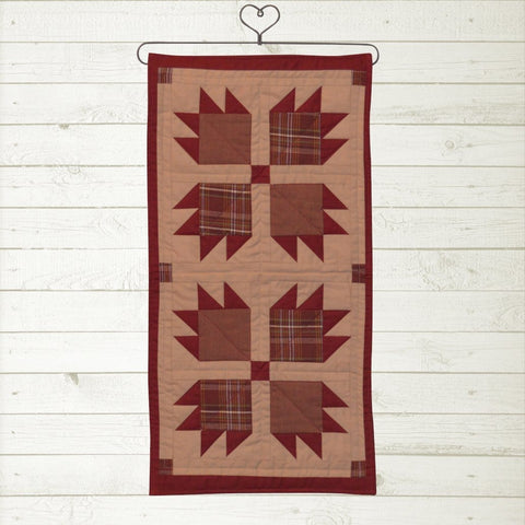 Burgundy Bear's Paw Mini Runner