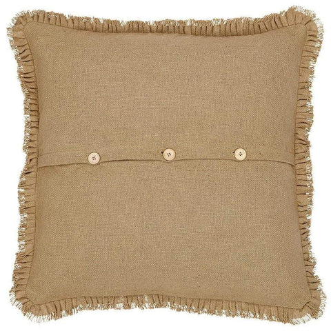 Burlap Natural Euro Sham - Retro Barn Country Linens - 2