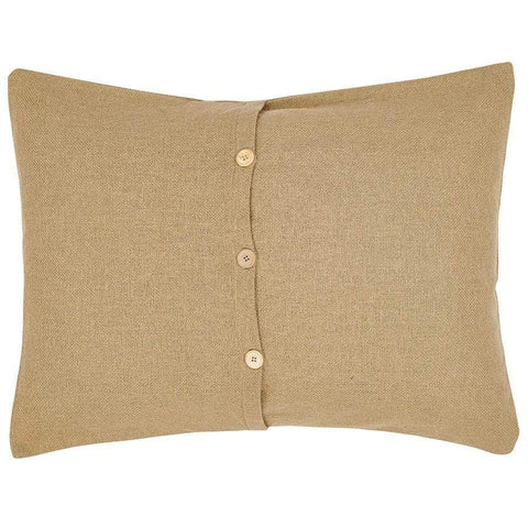 Burlap Natural Standard Sham - Retro Barn Country Linens - 2