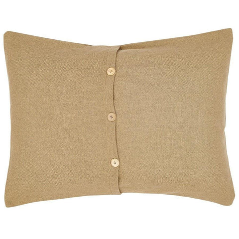 Burlap Natural King Sham - Retro Barn Country Linens - 2