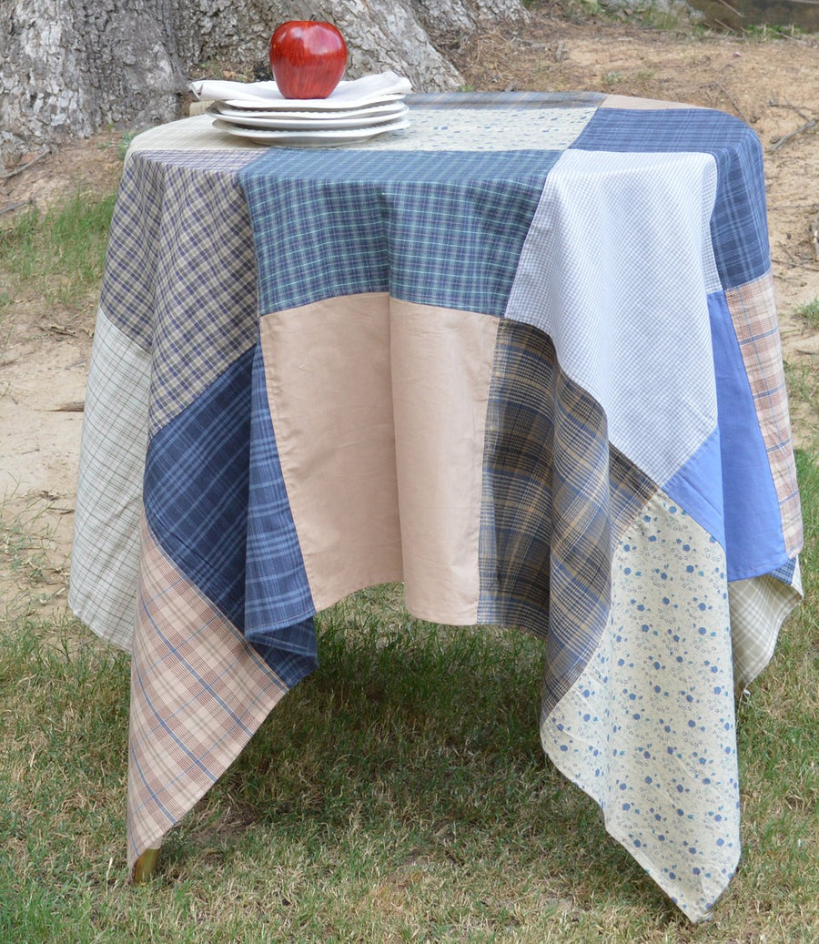 Cornflower Patchwork Tablecloth