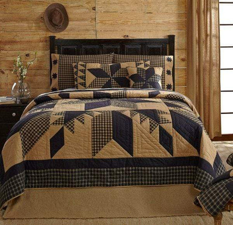 Dakota Star Quilt - Retro Barn Country Linens - 1