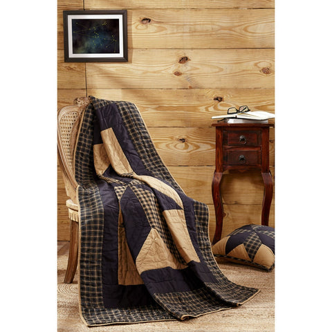 Dakota Star Quilted Throw / Wallhanging - Retro Barn Country Linens - 1