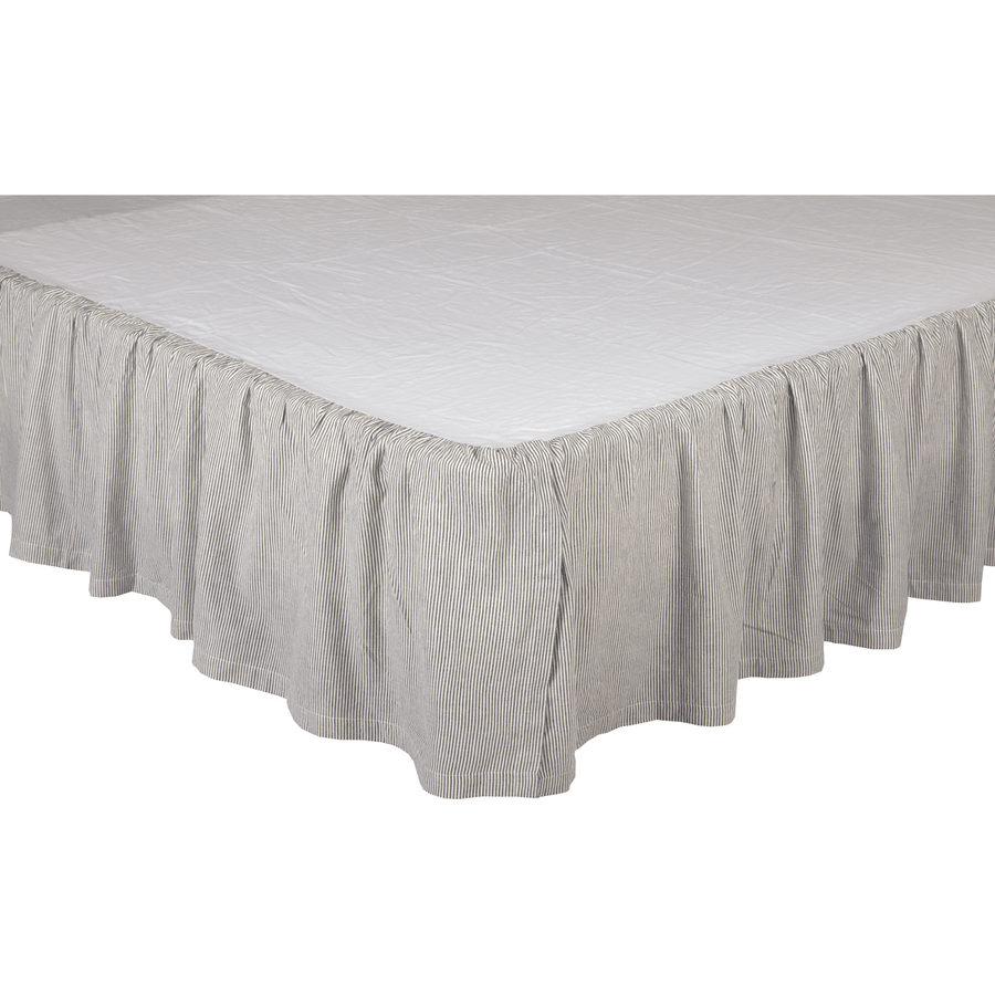Dakota Star Farmhouse Blue Bedskirt 16""