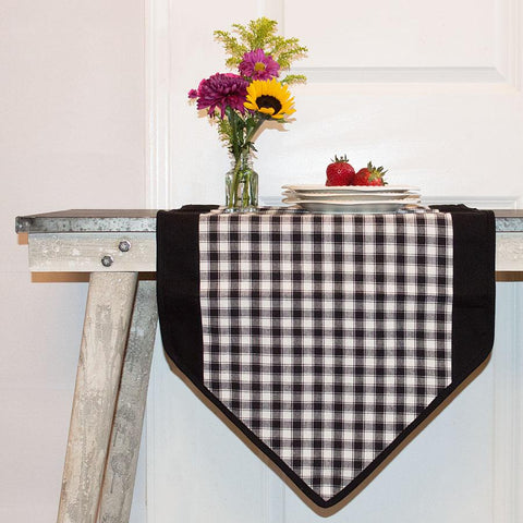 Farmhouse Check Table Runner by Retro Barn