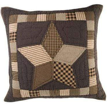 Farmhouse Star Quilted Euro Sham - Retro Barn Country Linens
