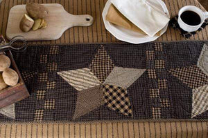 Farmhouse Star Quilted Runner