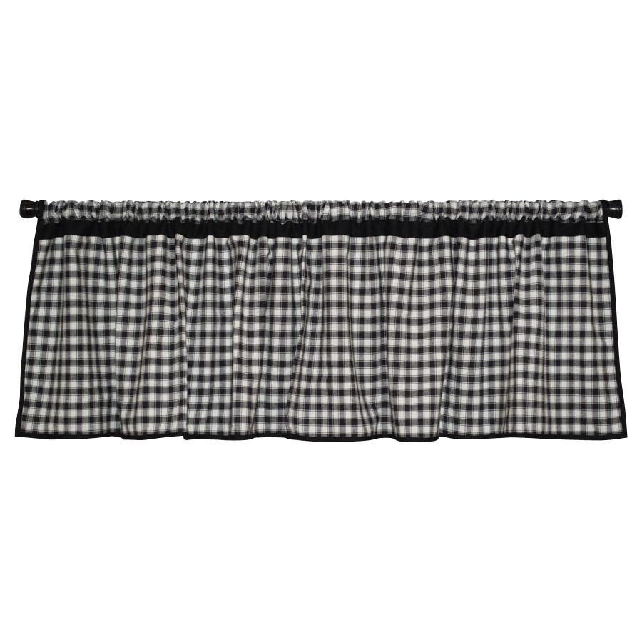 Farmhouse Check Valance