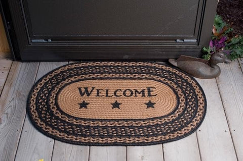 Farmhouse Welcome Rug - Retro Barn Country Linens