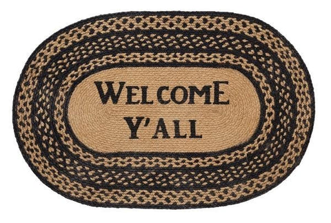 Farmhouse Welcome Y'all Rug - Retro Barn Country Linens