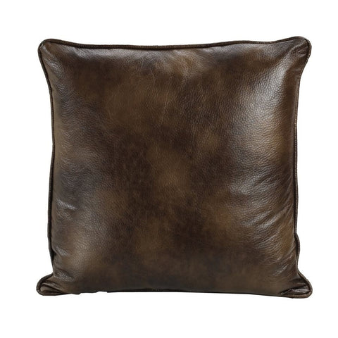 Faux Leather Euro Sham - Retro Barn Country Linens - 1