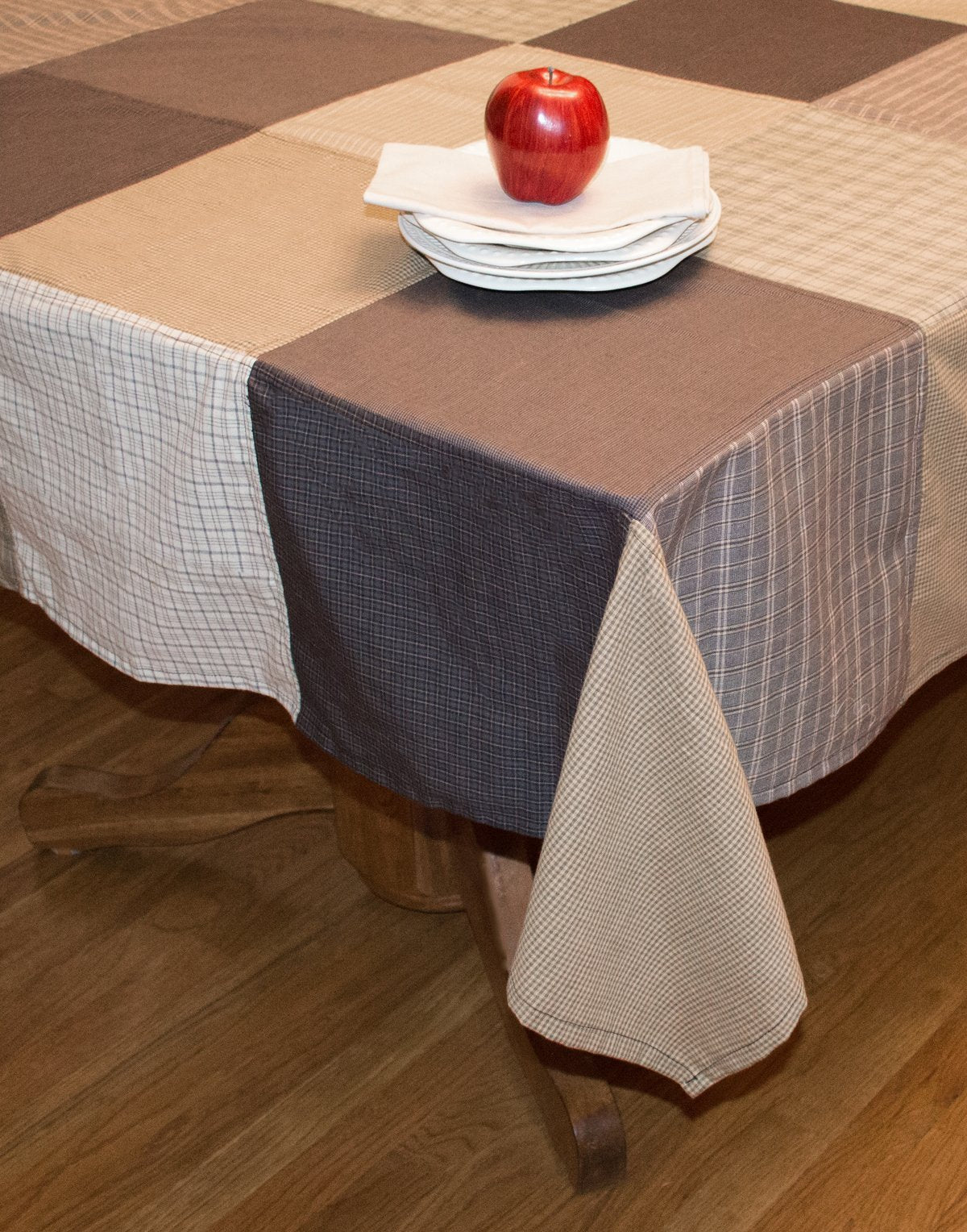 Fieldstone Patchwork Tablecloth | Retro Barn Country Linens