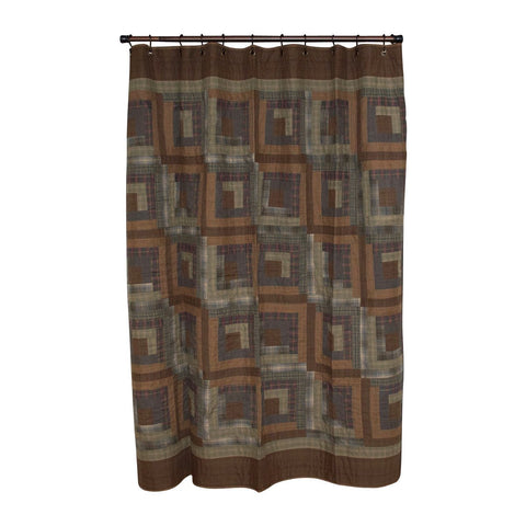 Frontier Log Cabin Shower Curtain