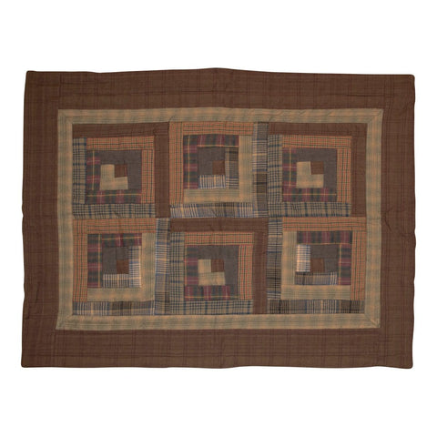 Frontier Log Cabin Pillow Sham